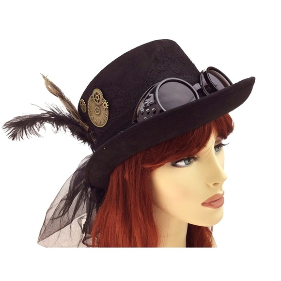 Adult size Deluxe Brown Steampunk Top Hat Cosplay Dress Up Costume Accessory fnt